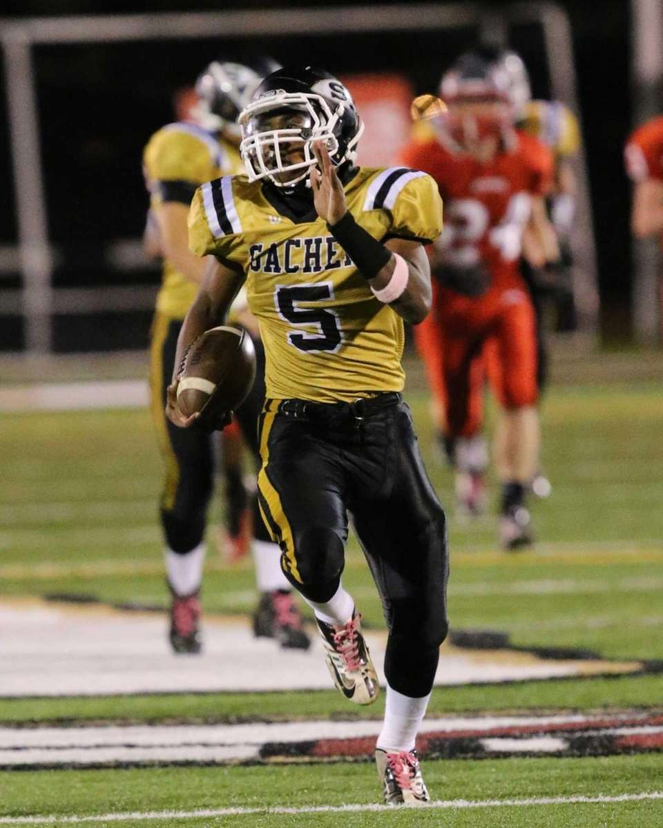 Sachem North's Malik Pierre goes 95 yards for