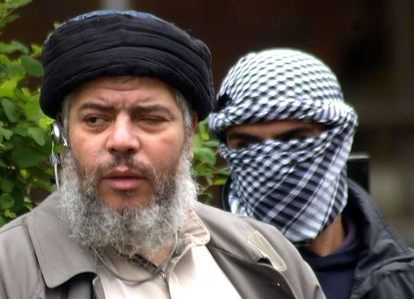 Muslim cleric Abu Hamza al-Masri as he arrives