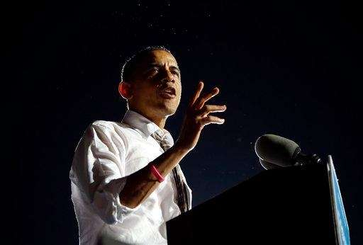 President Barack Obama speaks to supporters at a