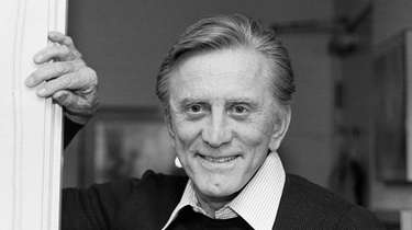 Aactor Kirk Douglas at his home in Beverly