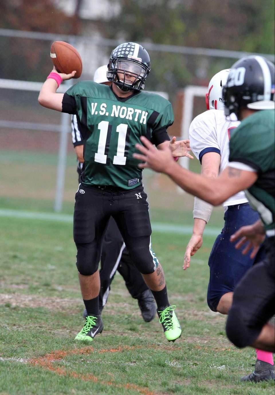 Valley Stream North's Anthony Martelli looks to throw