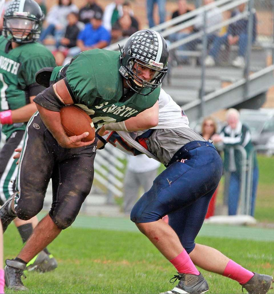 Valley Stream North's William Patsos gets away from