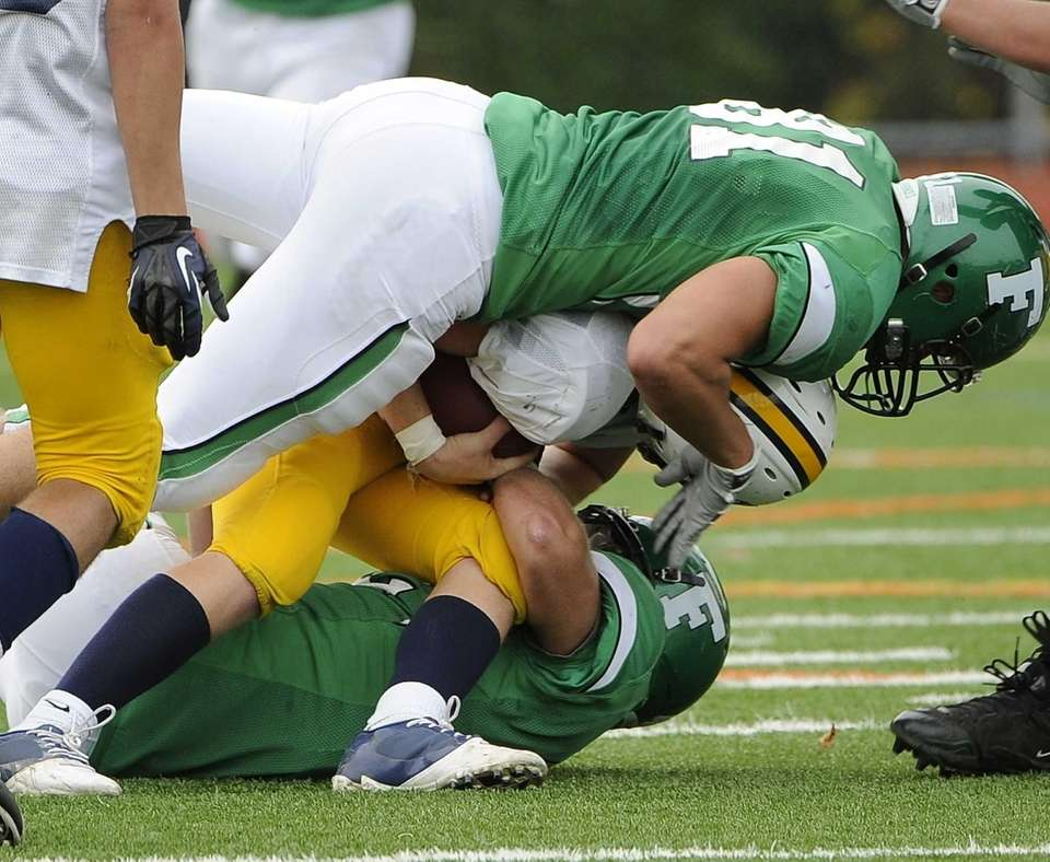 Farmingdale's Chad Tomasetti, top, and Thomas Ammirati, bottom,