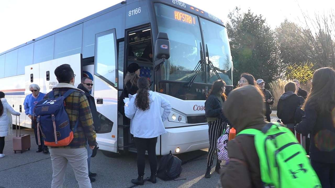 About 100 students and faculty head to New