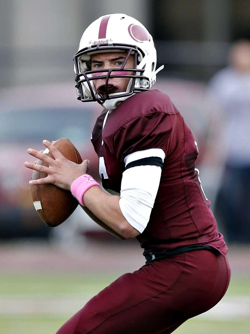 Bay Shore quarterback Jake Sheets steps into the