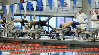 Nassau High School boys swimming championships at Nassau