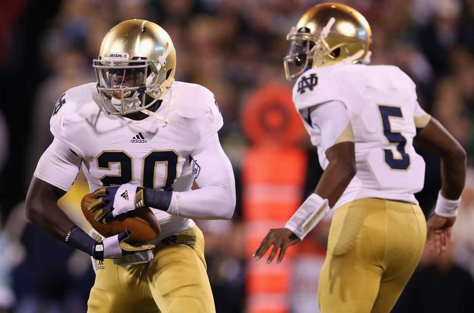 Cierre Wood of the Notre Dame Fighting Irish