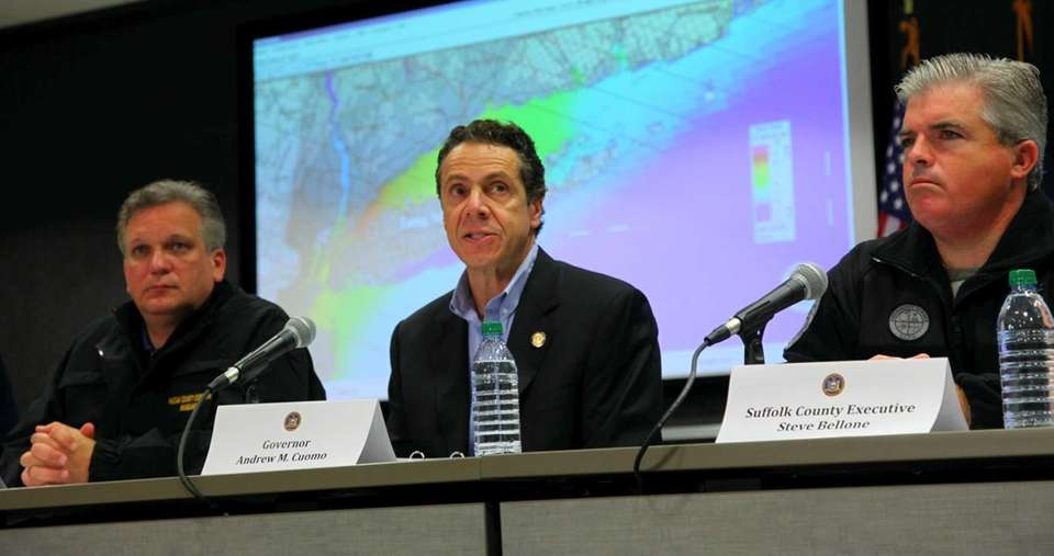 Nassau Executive Edward Mangano, Governor Andrew Cuomo and