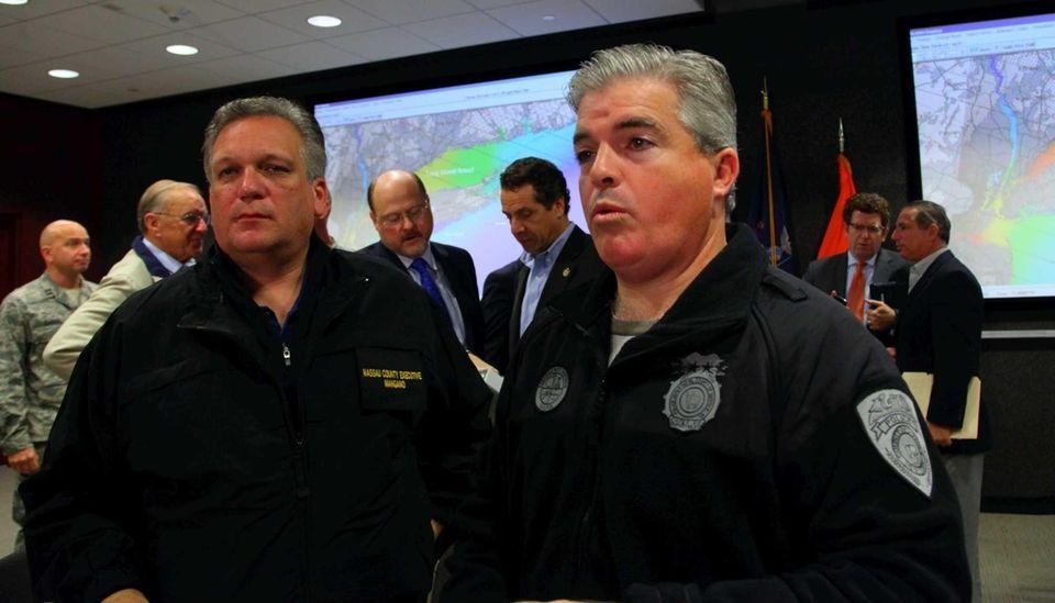 Nassau County Executive Ed Mangano and Suffolk County
