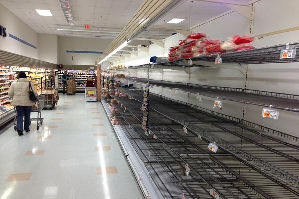 Bread shelves at Waldbaum's in Greenlawn. (Oct. 28,
