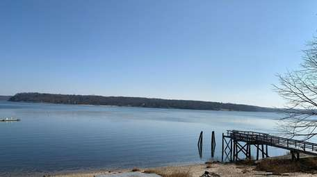 The property has views of Oyster Bay Harbor