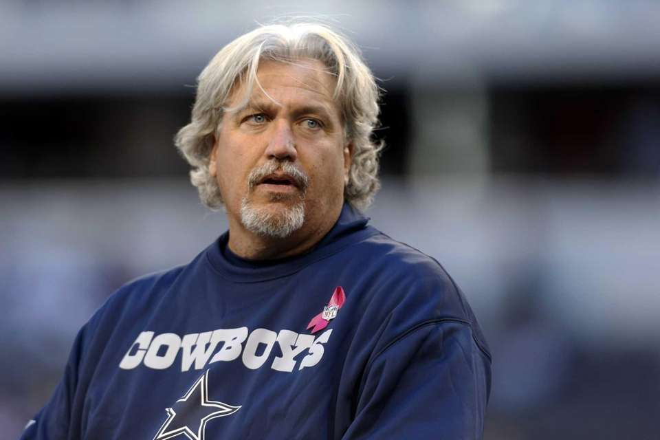 Dallas Cowboys defensive coordinator Rob Ryan watches the