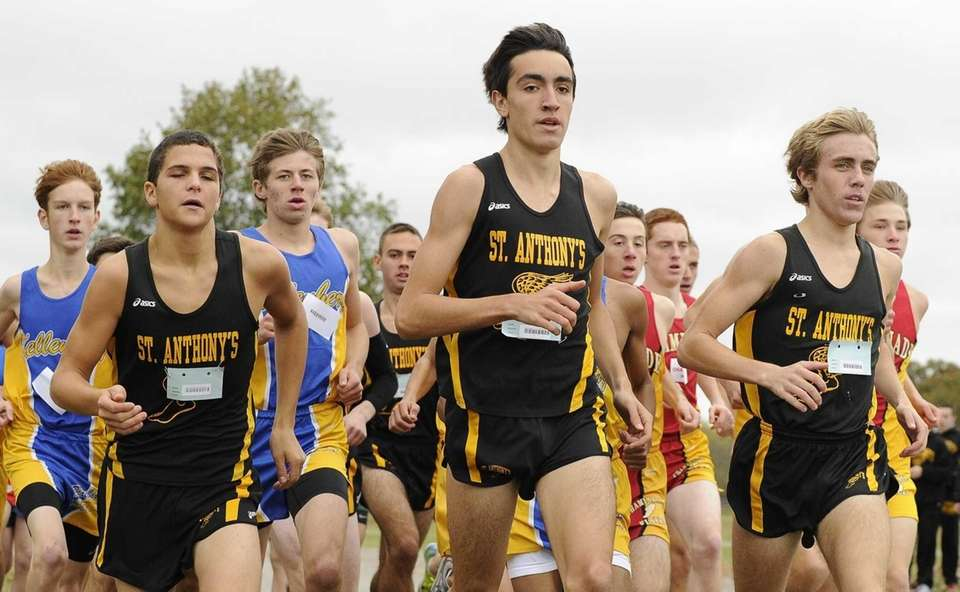 St. Anthony's runners lead the pack near the