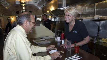 Liz Strebel, owner of the Riverhead Diner and