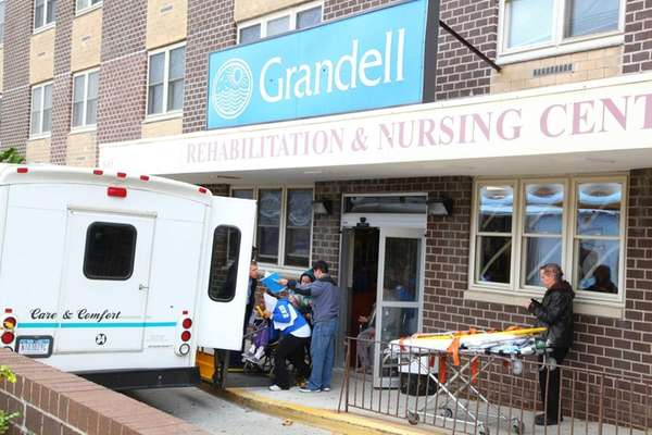 Residents from the Gradell nursing facility in Long