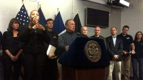 Hurricane Sandy press conference