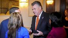 Congressman Peter King speaks to his new constituents