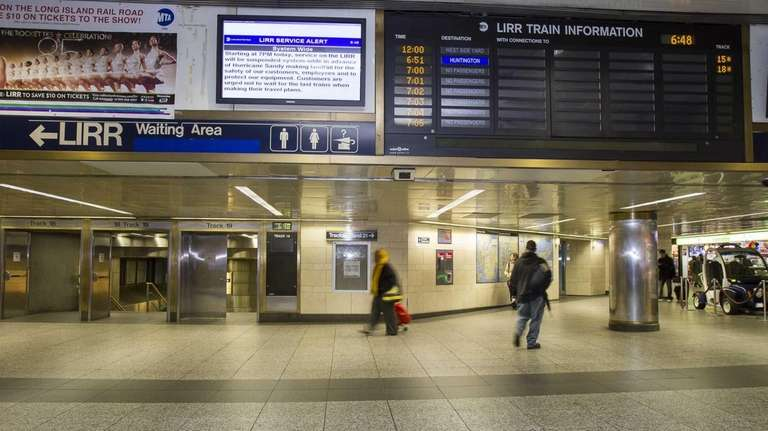Last trains on the LIRR prepare to leave