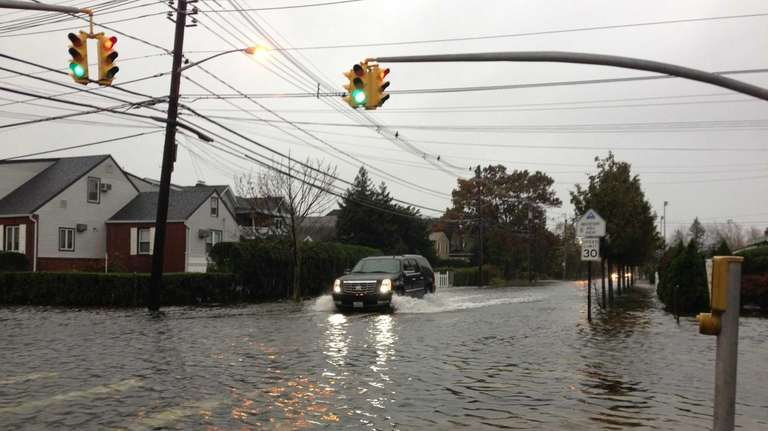 Streets are flooded at Ray Street and Guy