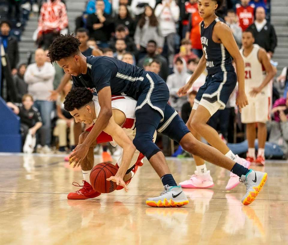 Andre Curbelo of Long Island Lutheran and Ziaire