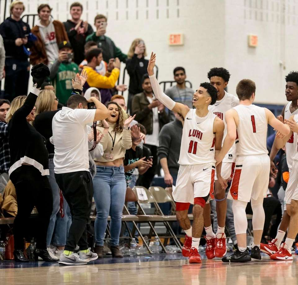 Andre Curbelo and his Long Island Lutheran teammates
