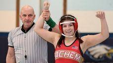 Sachem East's Adrianna Eberhardt gets the win against