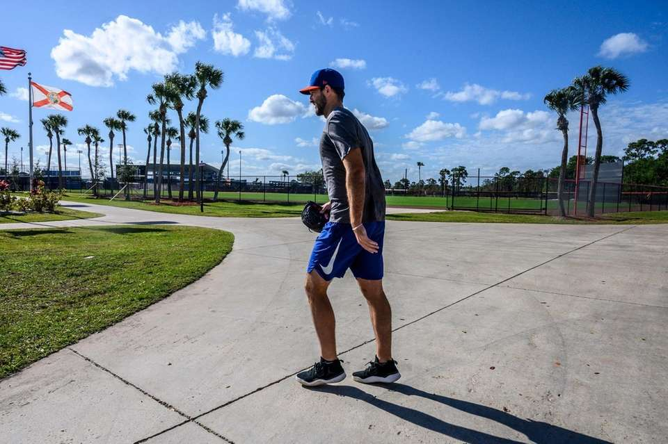 NY Mets pitcher Michael Wacha at Clover Park