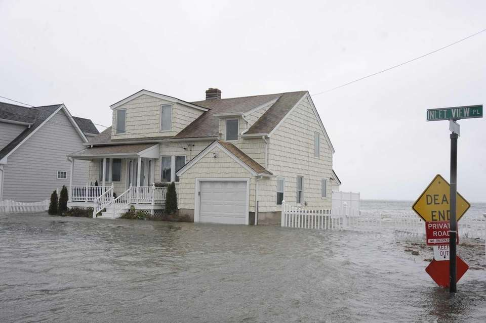 Water about 3 feet deep in Moriches Bay