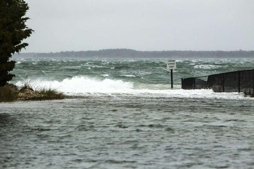Waves at Cedar Beach before high tide in