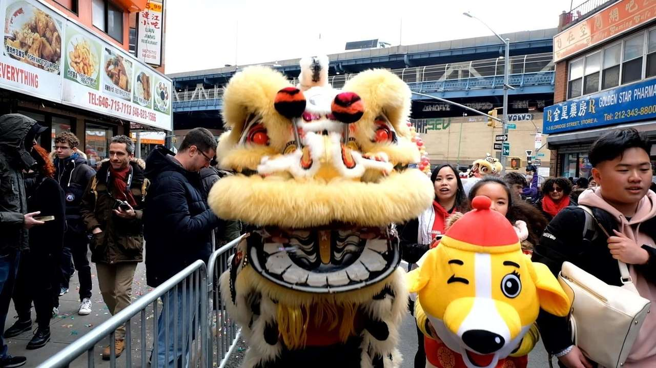 Crowds in Manhattan's Chinatown welcomed the Year of