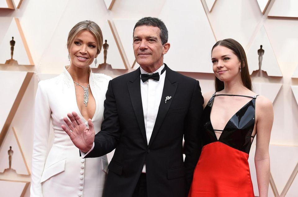 Nicole Kimpel, from left, Antonio Banderas, and Stella
