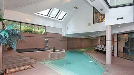 This house in Old Westbury features this spa