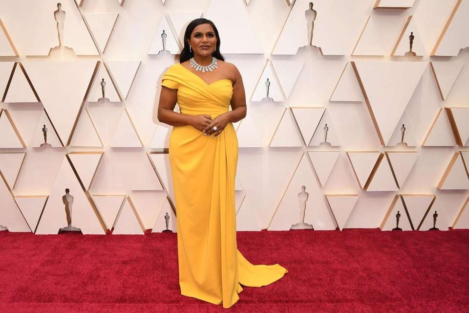 US actress Mindy Kaling arrives for the 92nd