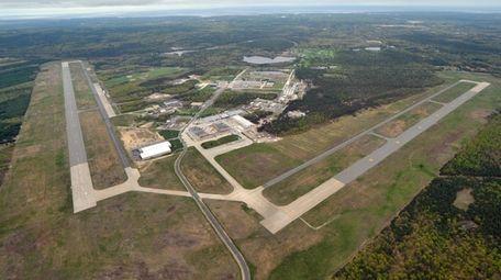 The former Grumman airport at Calverton in 2011.