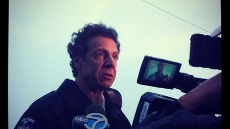 Gov. Andrew Cuomo at Long Beach.