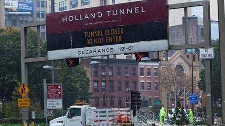The Holland Tunnel is closed due to Hurricane