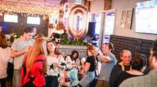Guests attend the 30th birthday for Elise Thorsen