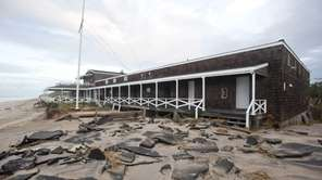 Wind and water brought by megastorm Sandy damaged