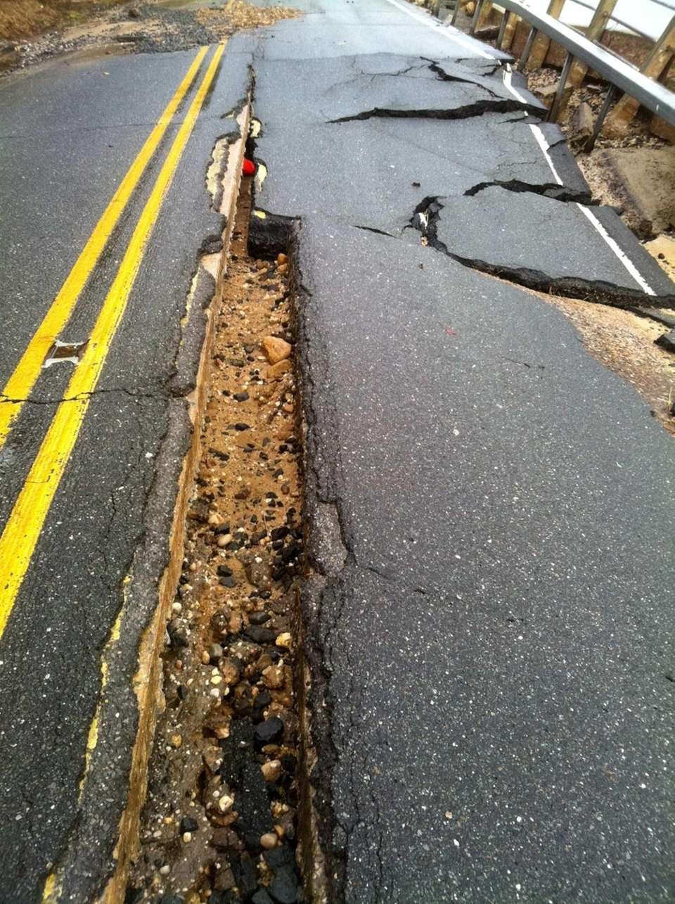Damage from superstorm Sandy includes the upheaval of