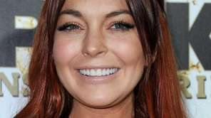 Lindsay Lohan arrives at a Mr. Pink Ginseng