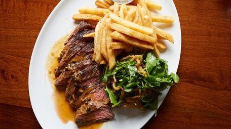 Steak au poivre with cracked pepper, cognac, mustard