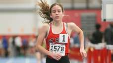 Mt Sinai's Sarah Connelly wins the 3,000-meter run