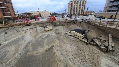 Superstorm Sandy left sand after the storm surge