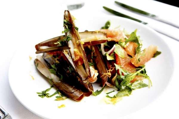 Razor clams at The Riverhead Project are served