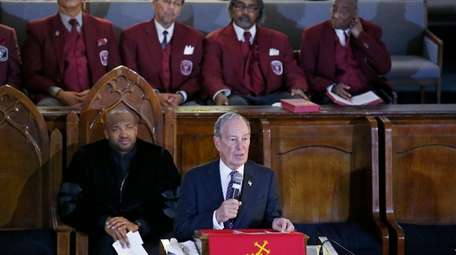 Democratic presidential candidate Michael Bloomberg at the Vernon