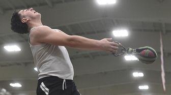Evan Rosen of Syosset generates spin momentum during