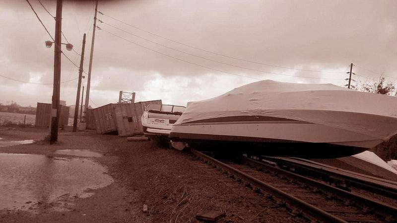 Boats on the LIRR's Long Beach branch near