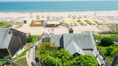 A beach and ocean view at Gurney's Resort