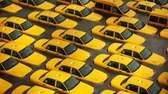 Taxis sit in a flooded lot after superstorm