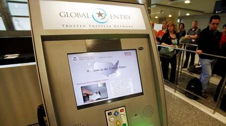 A Global Entry kiosk at Los Angeles International